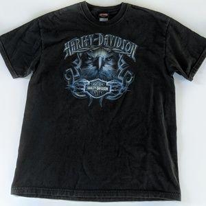 Vtg Harley Davidson Black Eagle Tee